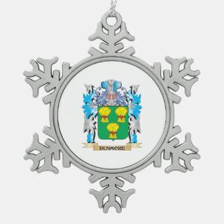 Escudo de armas de Dunmore - escudo de la familia Adorno De Peltre En Forma De Copo De Nieve