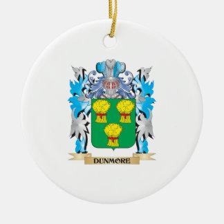 Escudo de armas de Dunmore - escudo de la familia Adorno Redondo De Cerámica
