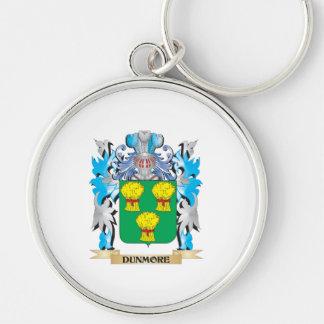 Escudo de armas de Dunmore - escudo de la familia Llavero Redondo Plateado