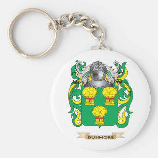 Escudo de armas de Dunmore Llavero Redondo Tipo Pin