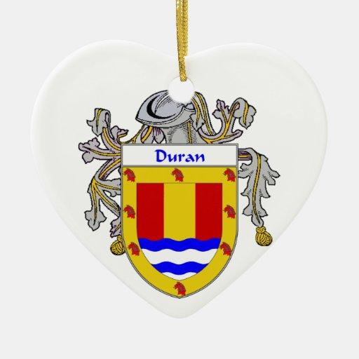 Escudo de armas de Duran/escudo de la familia Adorno De Cerámica En Forma De Corazón