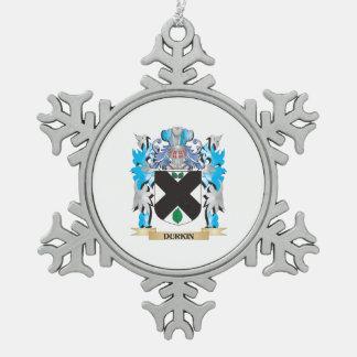 Escudo de armas de Durkin - escudo de la familia Adorno De Peltre En Forma De Copo De Nieve