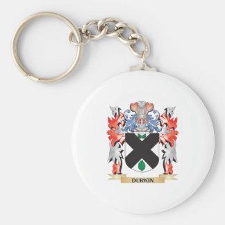 Escudo de armas de Durkin - escudo de la familia Llavero Redondo Tipo Pin