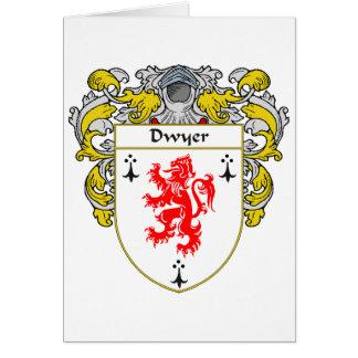 Escudo de armas de Dwyer (cubierto) Tarjeta De Felicitación