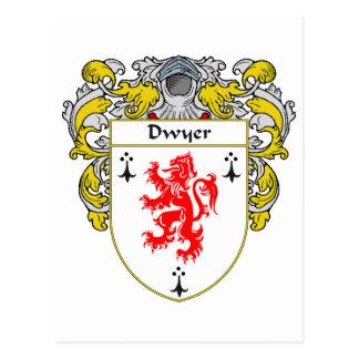 Escudo de armas de Dwyer (cubierto) Tarjetas Postales