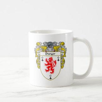 Escudo de armas de Dwyer (cubierto) Taza De Café