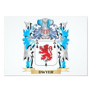 """Escudo de armas de Dwyer - escudo de la familia Invitación 5"""" X 7"""""""