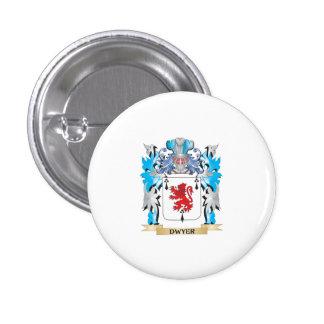 Escudo de armas de Dwyer - escudo de la familia Pin Redondo De 1 Pulgada