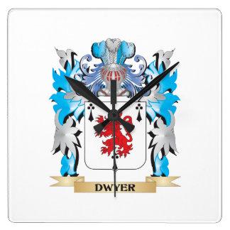 Escudo de armas de Dwyer - escudo de la familia Reloj Cuadrado
