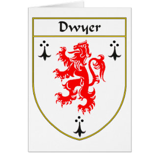 Escudo de armas de Dwyer/escudo de la familia Tarjeta De Felicitación