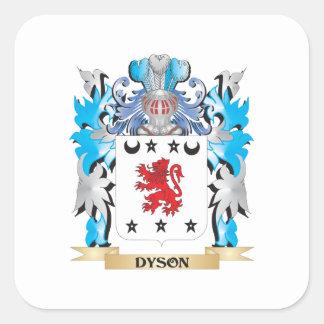 Escudo de armas de Dyson - escudo de la familia Calcomanías Cuadradass