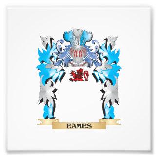 Escudo de armas de Eames - escudo de la familia Fotografías