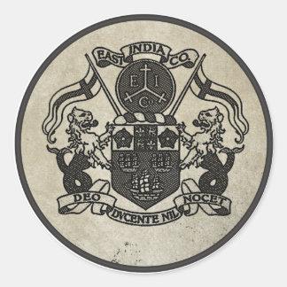 Escudo de armas de East la India Company Pegatina Redonda