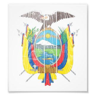Escudo de armas de Ecuador Arte Fotográfico