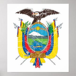 Escudo de armas de Ecuador Poster