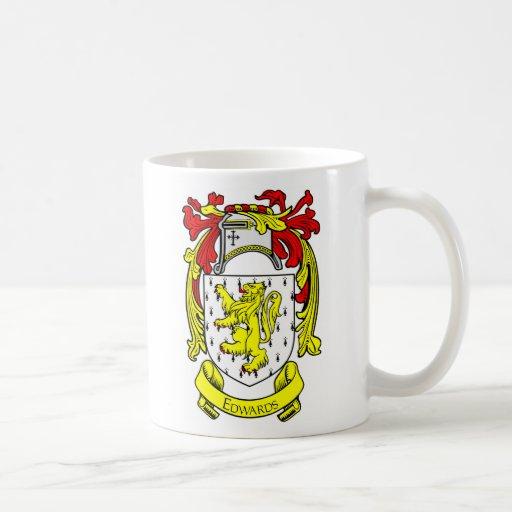 Escudo de armas de EDWARDS Taza De Café