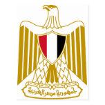 Escudo de armas de Egipto EG. Tarjeta Postal