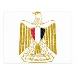 Escudo de armas de Egipto Postal