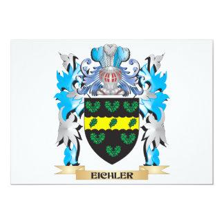 Escudo de armas de Eichler - escudo de la familia Invitación 12,7 X 17,8 Cm