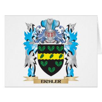 Escudo de armas de Eichler - escudo de la familia Tarjeta De Felicitación Grande