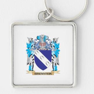 Escudo de armas de Eisenstein - escudo de la famil Llavero Cuadrado Plateado
