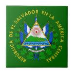 Escudo de armas de El Salvador Azulejo Cerámica