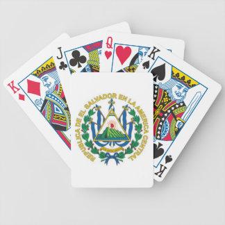Escudo de armas de El Salvador Baraja Cartas De Poker