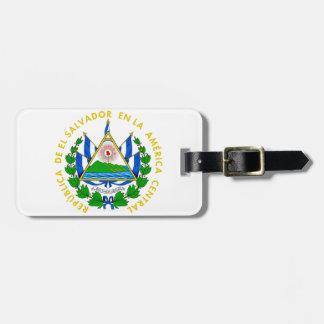Escudo de armas de El Salvador Etiqueta De Maleta