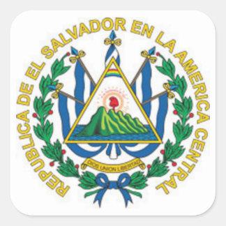 Escudo de armas de El Salvador Pegatina Cuadrada