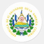 Escudo de armas de El Salvador Pegatina Redonda