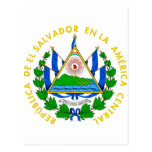 Escudo de armas de El Salvador Postales
