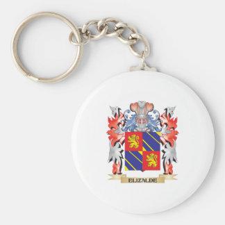 Escudo de armas de Elizalde - escudo de la familia Llavero Redondo Tipo Pin
