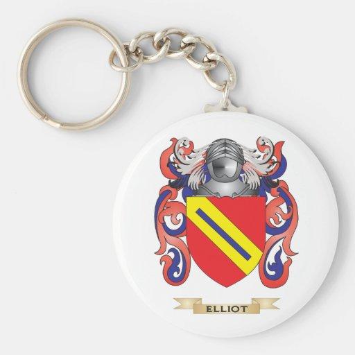 Escudo de armas de Elliot Llavero Redondo Tipo Pin