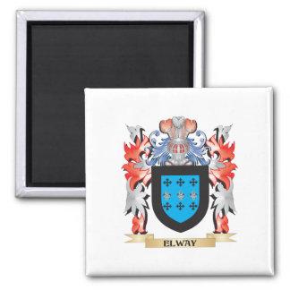 Escudo de armas de Elway - escudo de la familia Imán Cuadrado