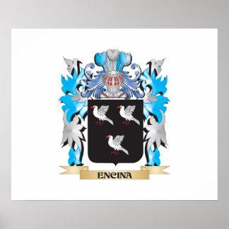 Escudo de armas de Encina - escudo de la familia Impresiones