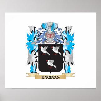 Escudo de armas de Encinas - escudo de la familia Impresiones