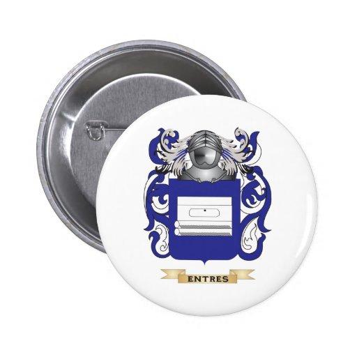 Escudo de armas de Entres Pin Redondo 5 Cm