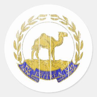 Escudo de armas de Eritrea Pegatina Redonda