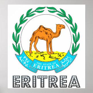 Escudo de armas de Eritrea Póster