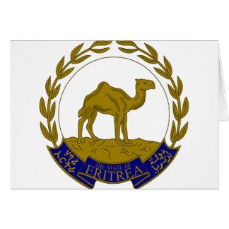 Escudo de armas de Eritria Tarjeta De Felicitación