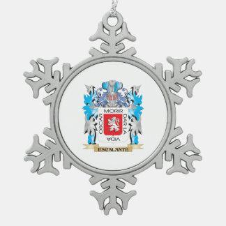 Escudo de armas de Escalante - escudo de la Adorno De Peltre En Forma De Copo De Nieve