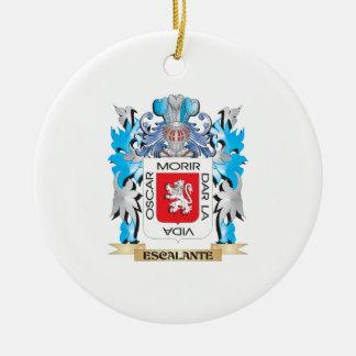 Escudo de armas de Escalante - escudo de la Adorno Redondo De Cerámica