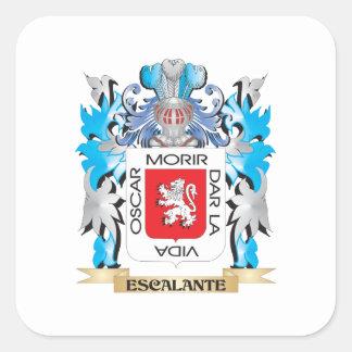 Escudo de armas de Escalante - escudo de la Pegatina Cuadrada