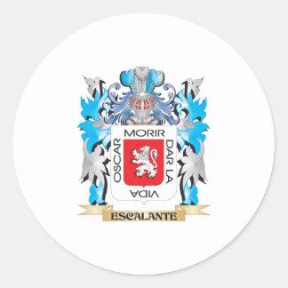 Escudo de armas de Escalante - escudo de la Pegatina Redonda