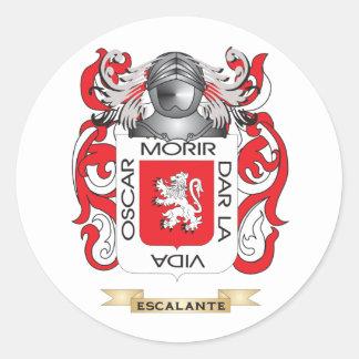Escudo de armas de Escalante Pegatina Redonda