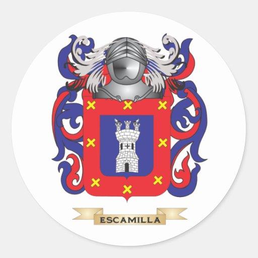 Escudo de armas de Escamilla Etiqueta Redonda