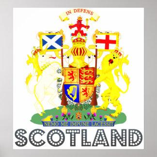 Escudo de armas de Escocia Poster