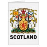 Escudo de armas de Escocia Tarjeta