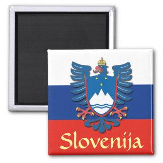 Escudo de armas de Eslovenia Imán Cuadrado