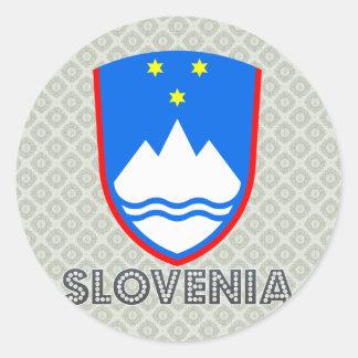 Escudo de armas de Eslovenia Pegatina Redonda